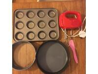 Baking supplies - incl Electric Mixer