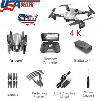 Foldable X13s WIFI GPS RC Quadcopter FPV Drone 4K Brushless HD Camera Selfie New