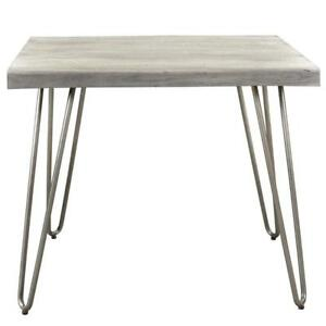 Light Grey Accent End  Table Sale-WO 7542 (BD-2594)