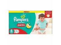 Pampers pants size 6