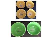 Set of Set Kellogg's Breakfast Cereal Bowls