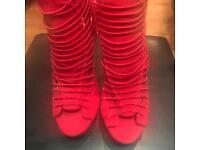 Women's red high heels