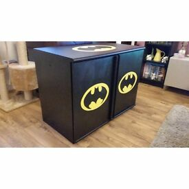 Hand Painted Batman Black and Yellow Cupboard