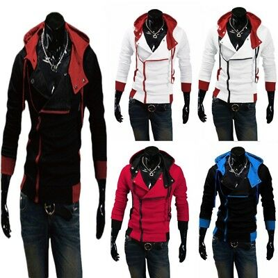 Men Stylish Creed Hoodie Coat Cosplay For Assassins Jacket Costume Coat Hot New