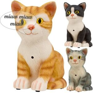 Special-Edition-Cute-Meowing-Noise-Cats-With-Motion-Sensor-Ornament-Figurine-NEW