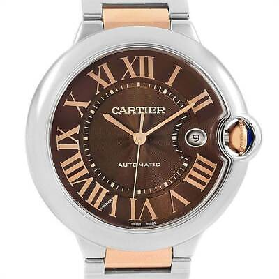Cartier Ballon Bleu 42mm Steel & Rose Gold Automatic, Ref, W6920032 Box & Card