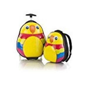 Heys Parrot Travel Tots - Lightweight 2pc. Kids Luggage & Backpack Set