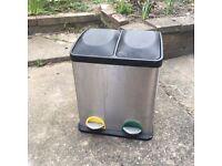 Recycling Pedal Bin Waste Kitchen 2 Bins 15l 30l 2 in 1