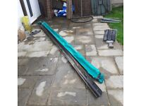 Two pieces black guttering each approx 3 metres FREE to collect