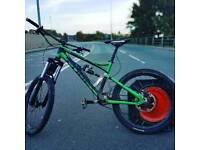 cube hanzz freeride dh bike