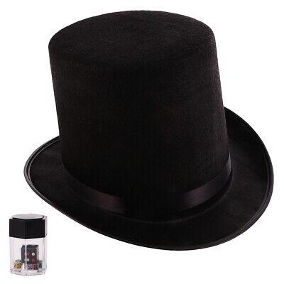 Zauberhut Zylinder Hut Schwarz + Magic Würfel - Würfel Hut