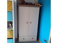 Childrens cream wardrobe