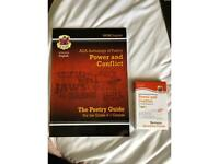 GCSE English literature aqa poetry anthology power and conflict revision guide plus flash cards