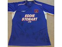 Carlisle United signed shirt
