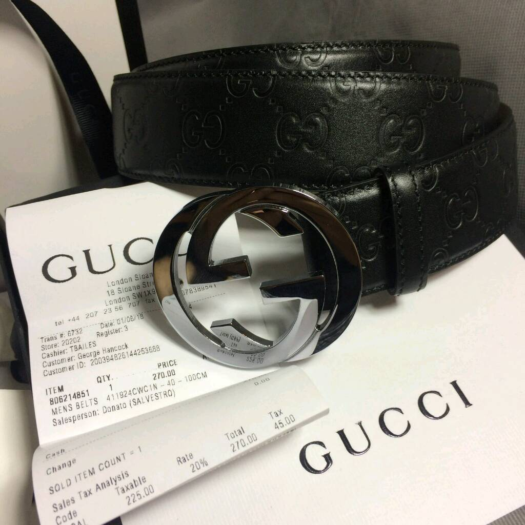 dd487efb3 Mens embossed sued inner gucci leather mens belt brand new perfect gift