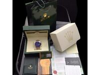 New Boxed blue dial two tone bracelet and casing Rolex submariner Comes Rolex Bagged and Boxed With