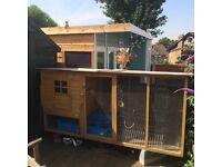 7ft rabbit hutch/ chicken coop