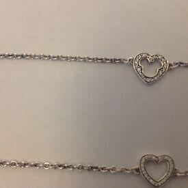 Girls pandora bracelet, mini mouse silloette 925 silver
