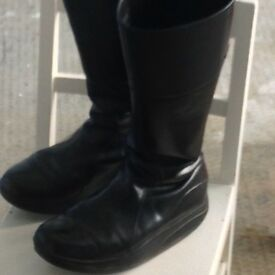 MBT black leather boots