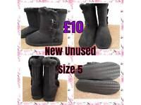 Brand new ladies black suede boots