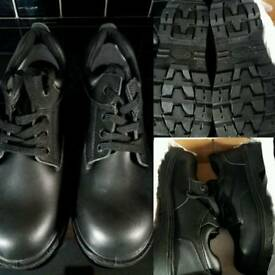Brand New Men's Black Steel Toe Capped Work Shoes Size 9