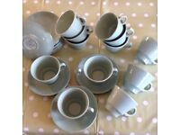 Cups and Saucers. Woods ware Bery.