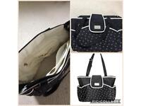 Carters black change bag