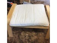 Wooden Ikea foot stool