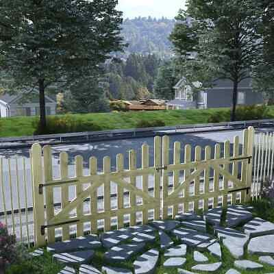 vidaXL 2x Garden Gates FSC Impregnated Pinewood 150x120cm Patio Driveway Door