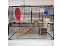Gerbil cage and accessories