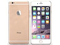 Apple i phone 6. Gold and white. 16GB