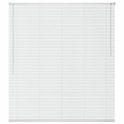 vidaXL Persiana de Aluminio PVC 60x130 cm Blanca Veneciana Cortinas Accesorios