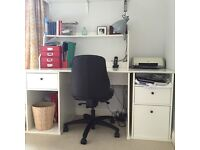 Ikea Johan desk and filing cabinet