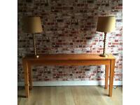 Beautiful elegant solid wood large retro hall/side table, 153cm L