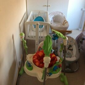 A number of baby equipment