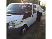 Ford Transit 350-100 double Cab Tipper with double dropside body - 58 plate/2008 yr