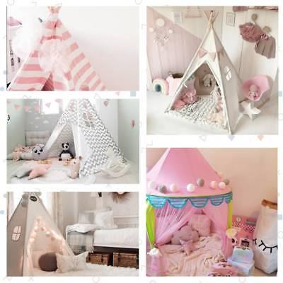 Tipi Spielzelt für Kinder Baumwolle-Segeltuch Kinderzelt Zelte Spielzeug Drauße ()