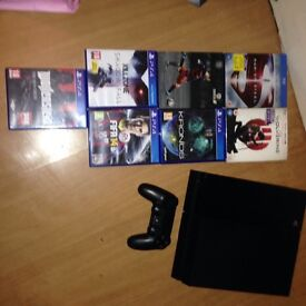 Playstation 4 with 5 games & 2 blurays