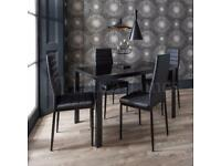 Dining Table and 4 chairs Space Saving