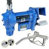 12 Volt DC 20GPM Gasoline Fuel Transfer Pump Gas Diesel Kerosene w/ Nozzle Kit