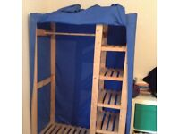 Blue cloth wardrobe