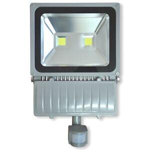 led flutlichtstrahler 100w mit bewegungsmelder scheinwerfer au enstrahler ip65 ebay. Black Bedroom Furniture Sets. Home Design Ideas
