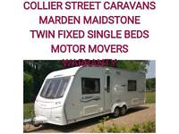2009 coachman laser 645 + motor movers twin fixed beds