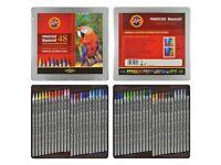 Woodless Aquarell Coloured Pencils (Set of 48)(KOH-I-NOOR Progresso)