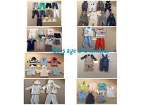 Baby boys age 3-6 months clothing bundle.