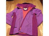 Girls Regatta waterproof jacket (age 7-8)