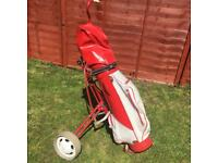 McGregor Adult Golf Clubs with Caddy Cart