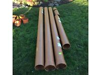 160mm plastic underground drainage pipes and fittings: 10 metres plus bends, collars and lubricant
