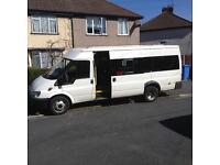 Transit 17 seater minibus