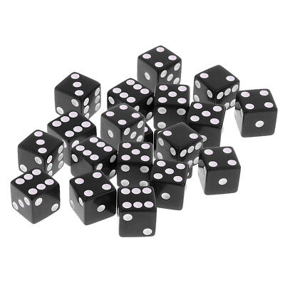 20Pcs D6 Dice Digital Dices Set for RPG Role Playing Game Toy Casino Supply